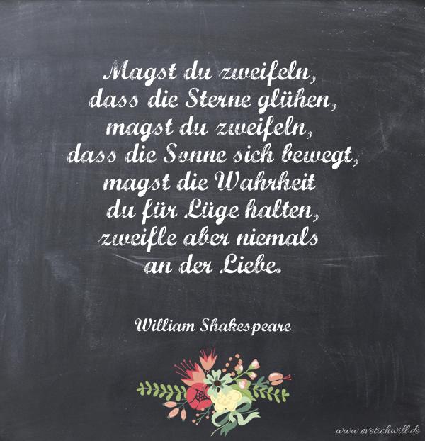 Über die Liebe… William Shakespeare | evet ich will - der