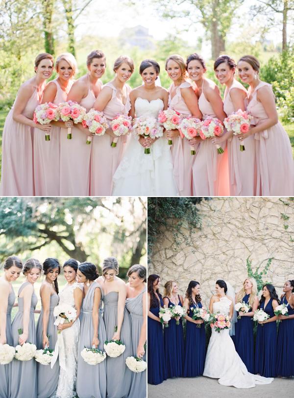 Niedlich Brautjungfer Verschiedene Kleider Gleiche Farbe Ideen ...