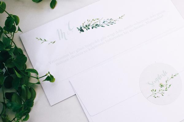 evetichwill DIY Taki Kuverts mit Sendmoments Grüne Pracht gestalten