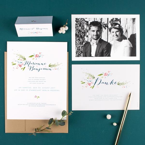 Modern Und Schick Zauberhafte Hochzeitskarten Von Rosemood